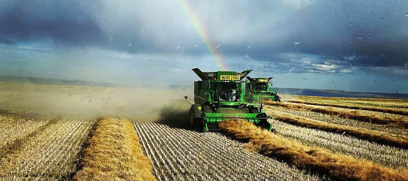 Farmers view of the end of a rainbow
