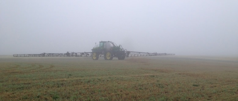 Sprayer in the Fog | Peace Country